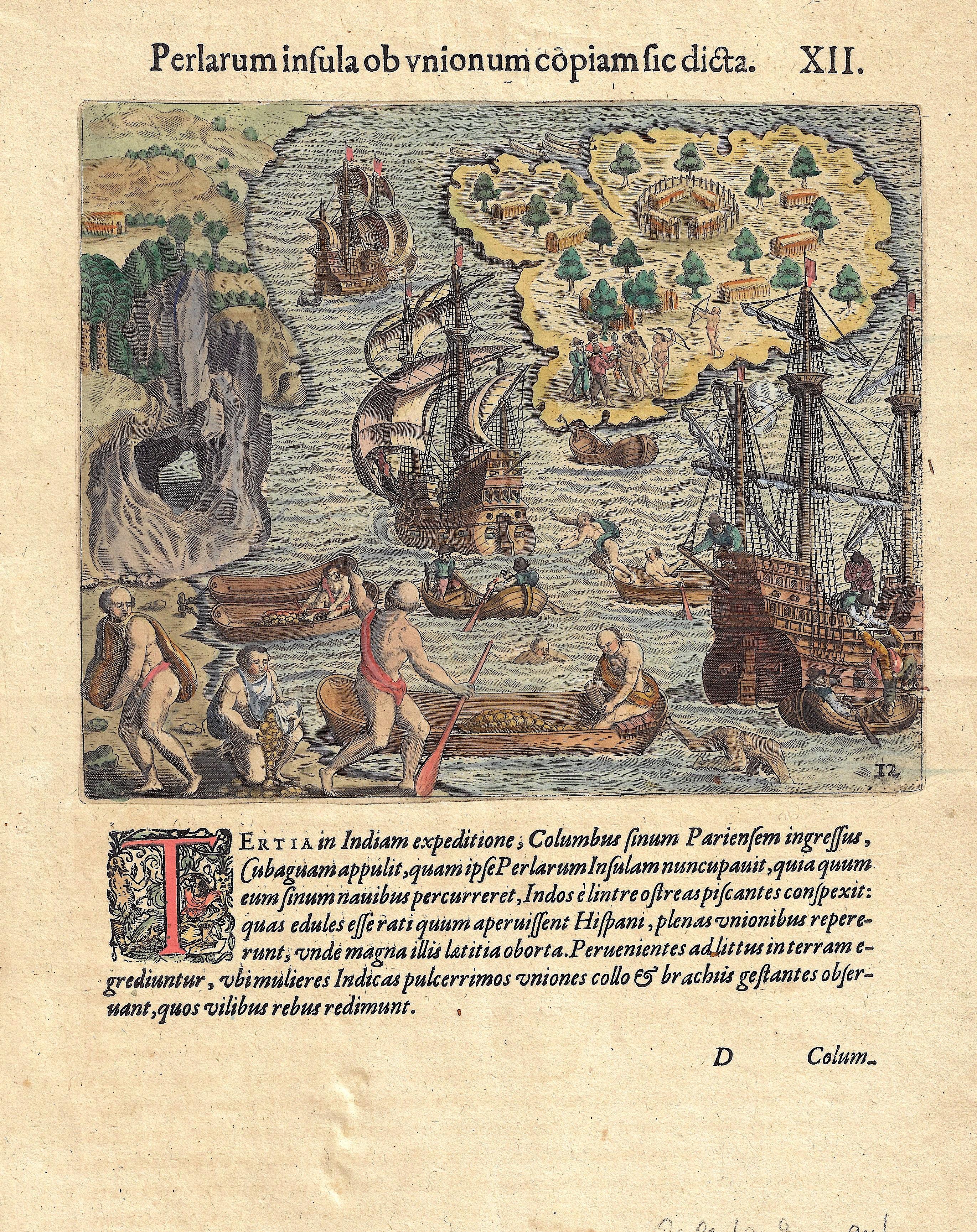 Bry, de Theodor, Dietrich Perlarum insula ob unionum copiam sic dicta.