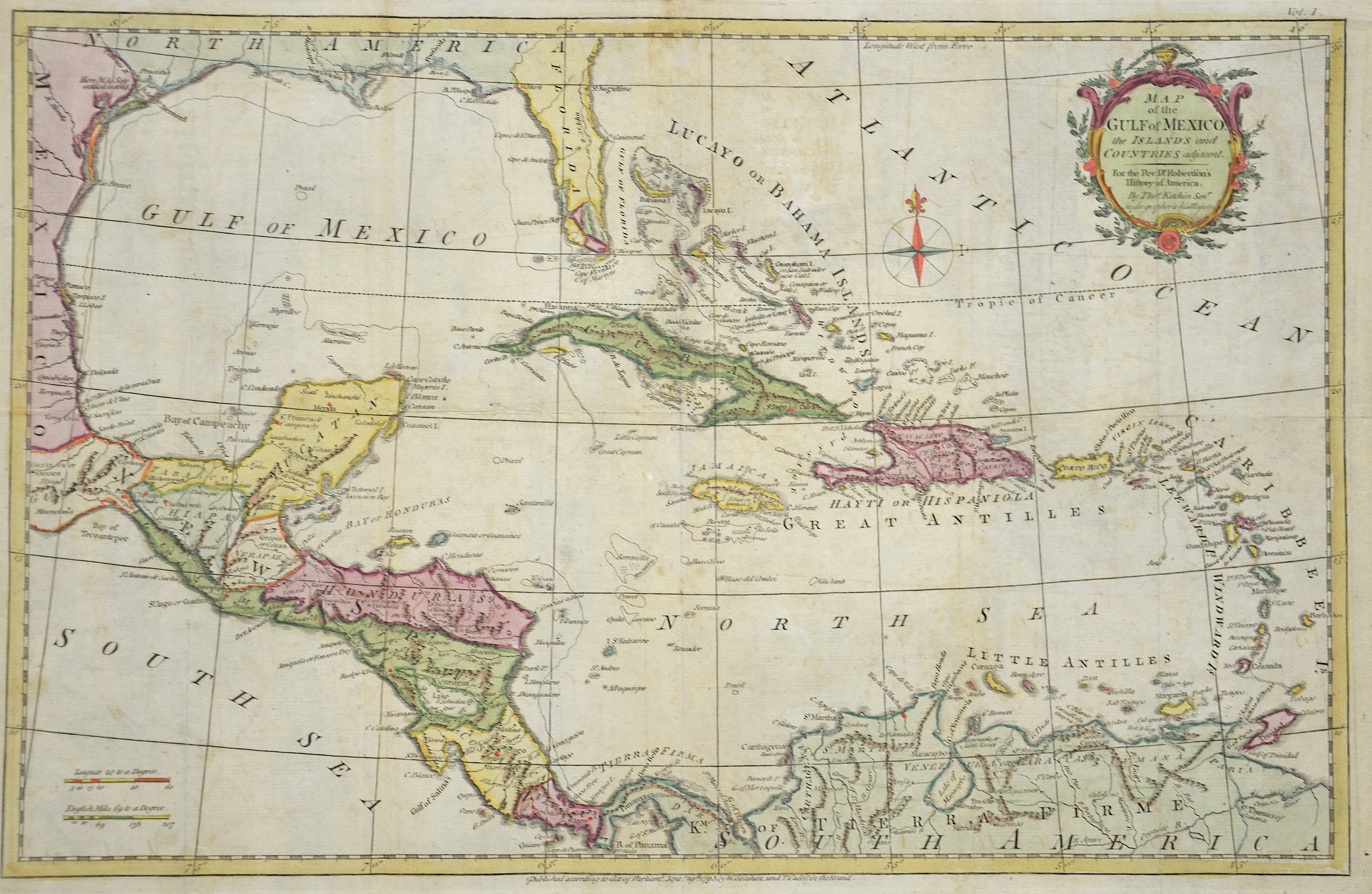 Kitchin (Kitchen)  Map of the Gulf of Mexico, the islands and counties…
