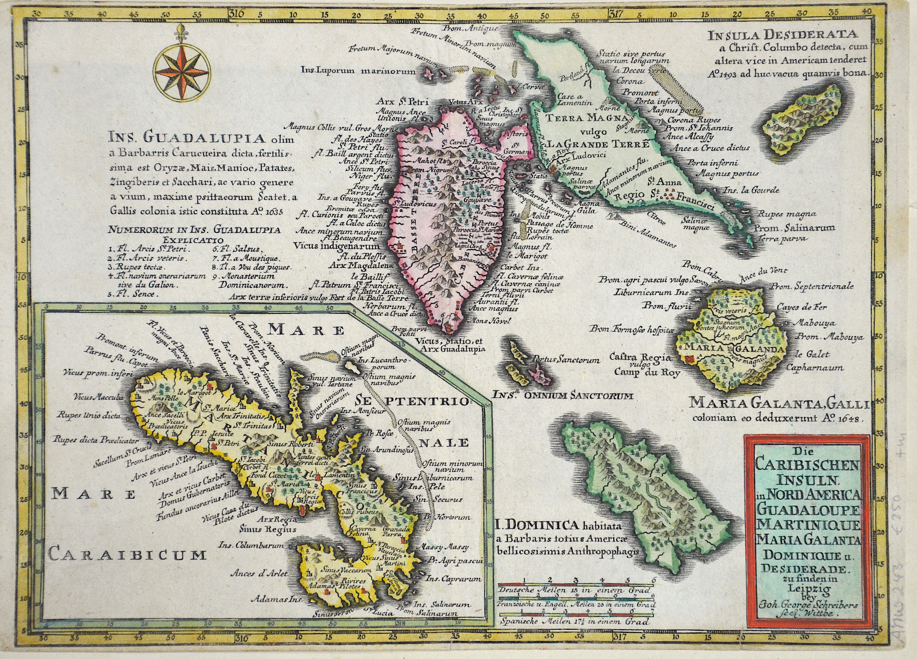 Schreiber Johann Georg Die Caribischen Inseln in Nord America…