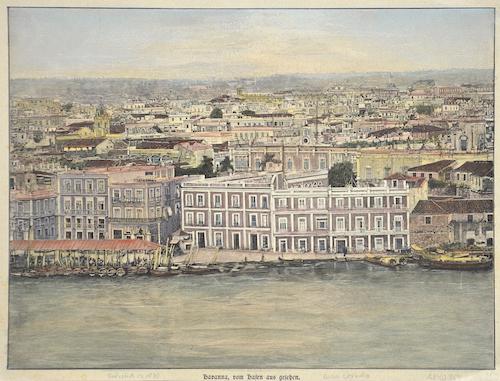 Anonymus  Havanna, von Hafen aus gesehen
