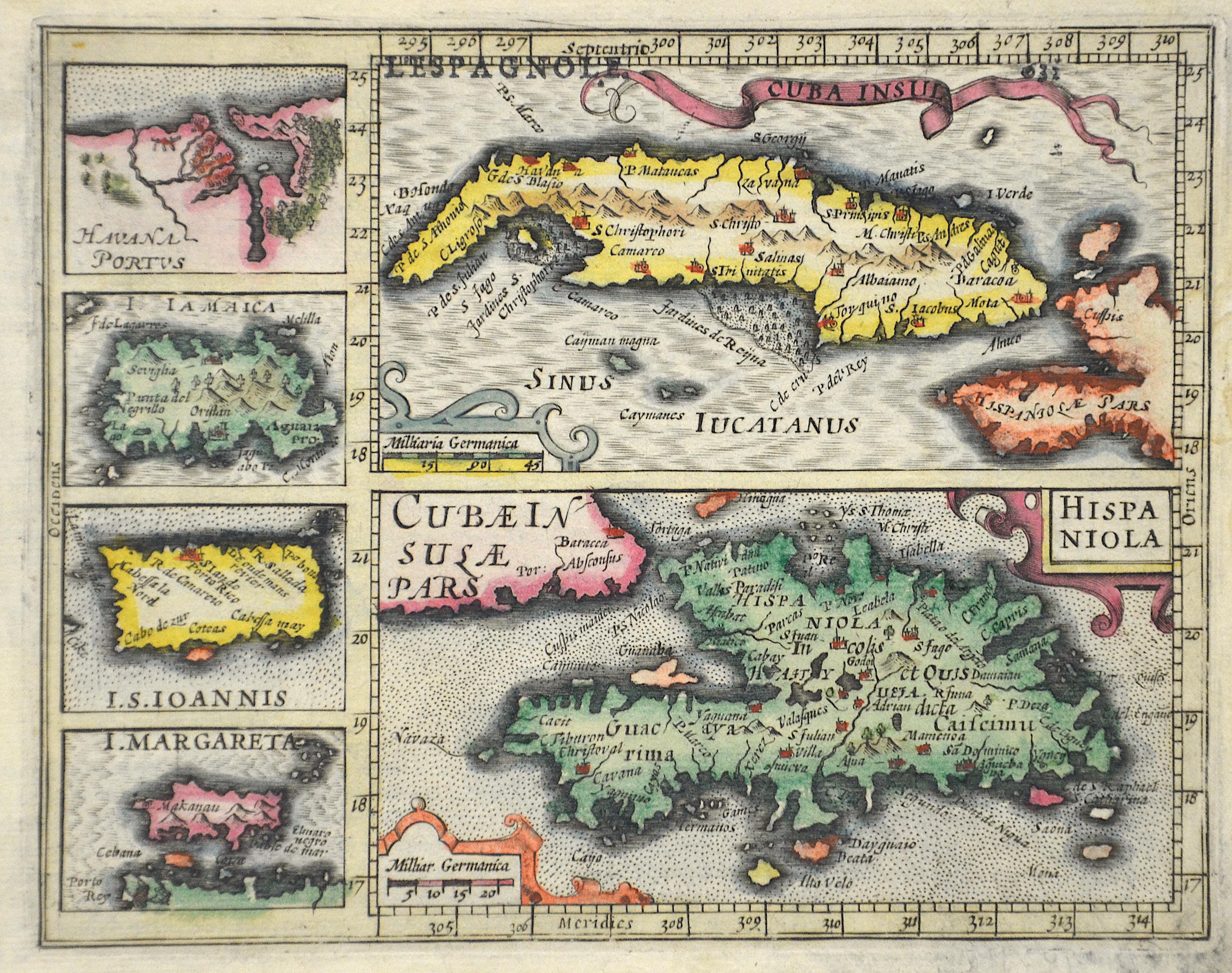 Bertius  Cuba Insul/ Hispaniola