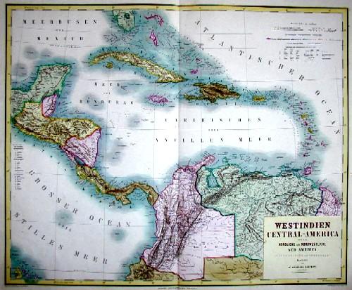 Kiepert  West Indien Ventral America und das nördliche und nordwestliche Südamerica