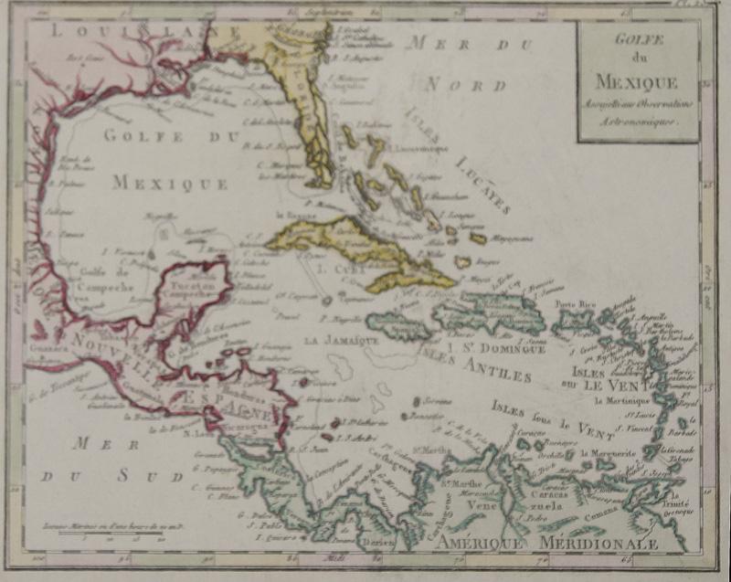 Anonymus  Golfe du Mexique Assujetti aus Observations Astronomiques.