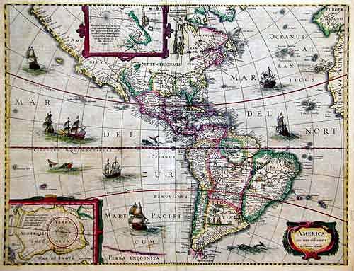 Hondius  America noviter delineata…