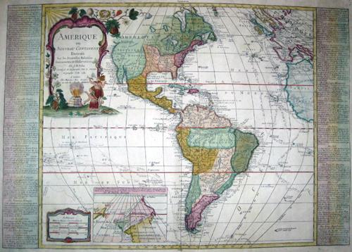 Nolin  Amerique ou nouveau continent dressee sur les nouvelles Relations…..
