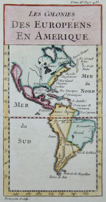 Bourgoin  Les colonies des Europeens en Amerique