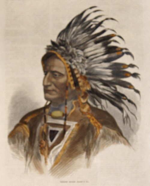 Anonymus  Indiánský nácelnik. (Kreslil P.K.)