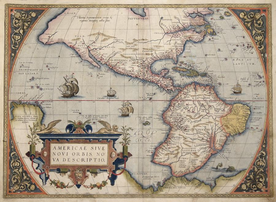 Ortelius  Americae sive novi orbis, nova descriptio.