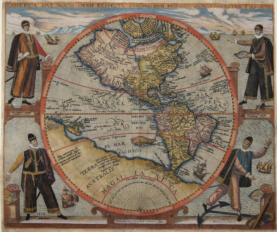 Bry, de  America sive Novus orbis repectu Europaeorum inferior Globi Terrestis Pars 1596