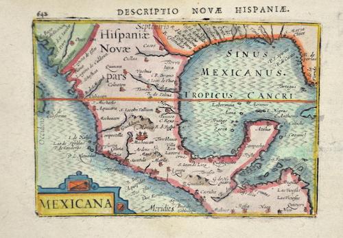 Bertius Petrus Descriptio novae Hispaniae. Mexicana