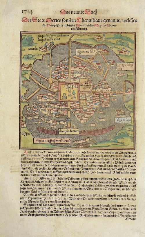 Münster Sebastian Die Statt Themistitn in den Neuwen Inseln gelegen/ Firgurierung