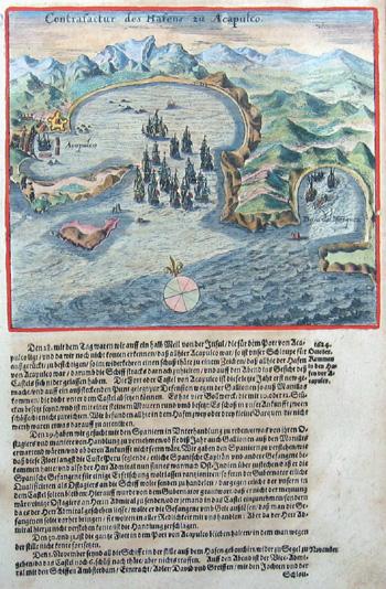 Bry, de Theodor, Dietrich Contrafactur des Hafens zu Accapulco