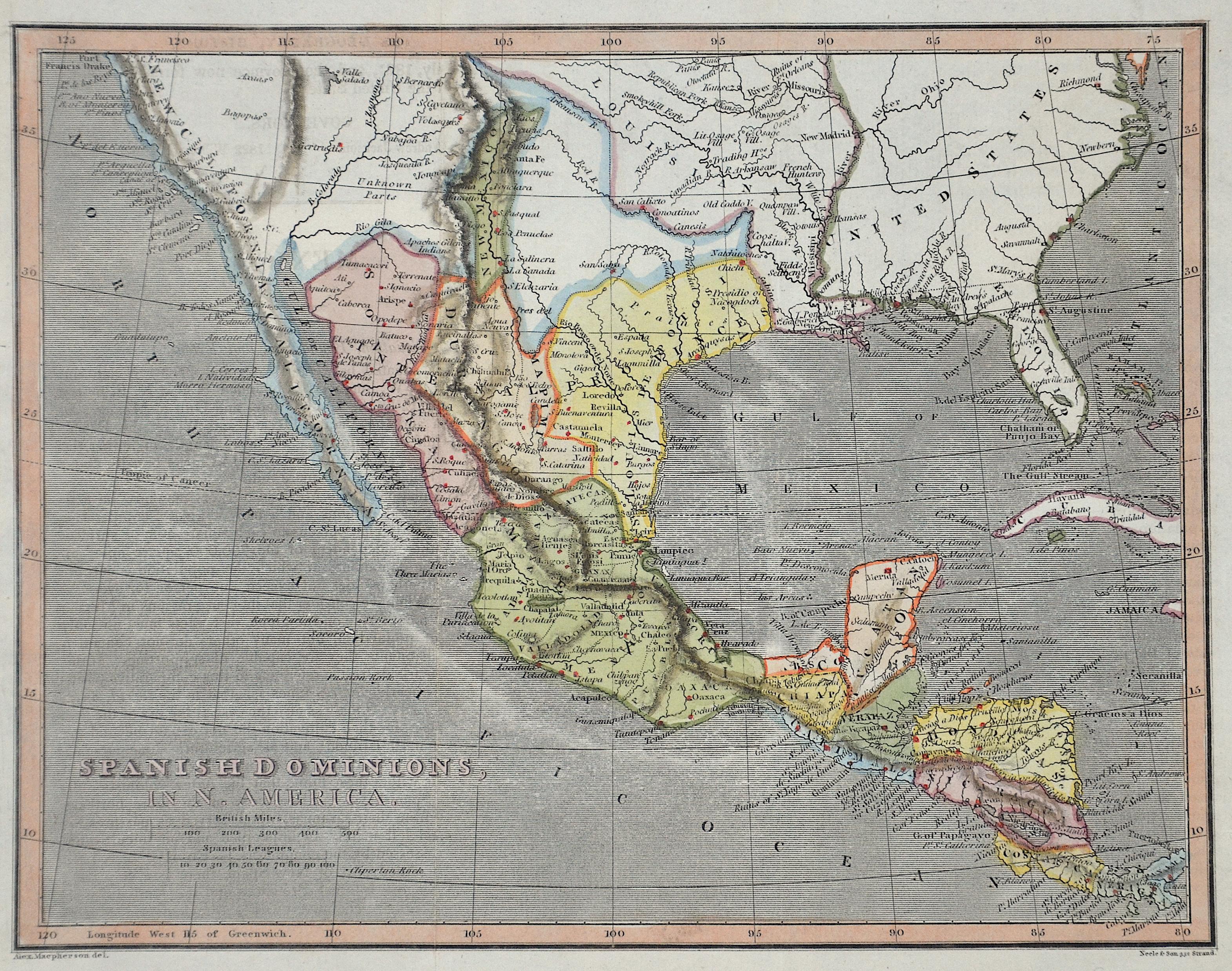 Maepherson  Spanish Dominions, in N. America