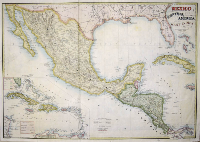 Stoddart J. M. Mexico Central America and the West Indies expressly for the Encyclopaedia Britannica. American Reprint. Copyright 1884. by Roger Sherman.