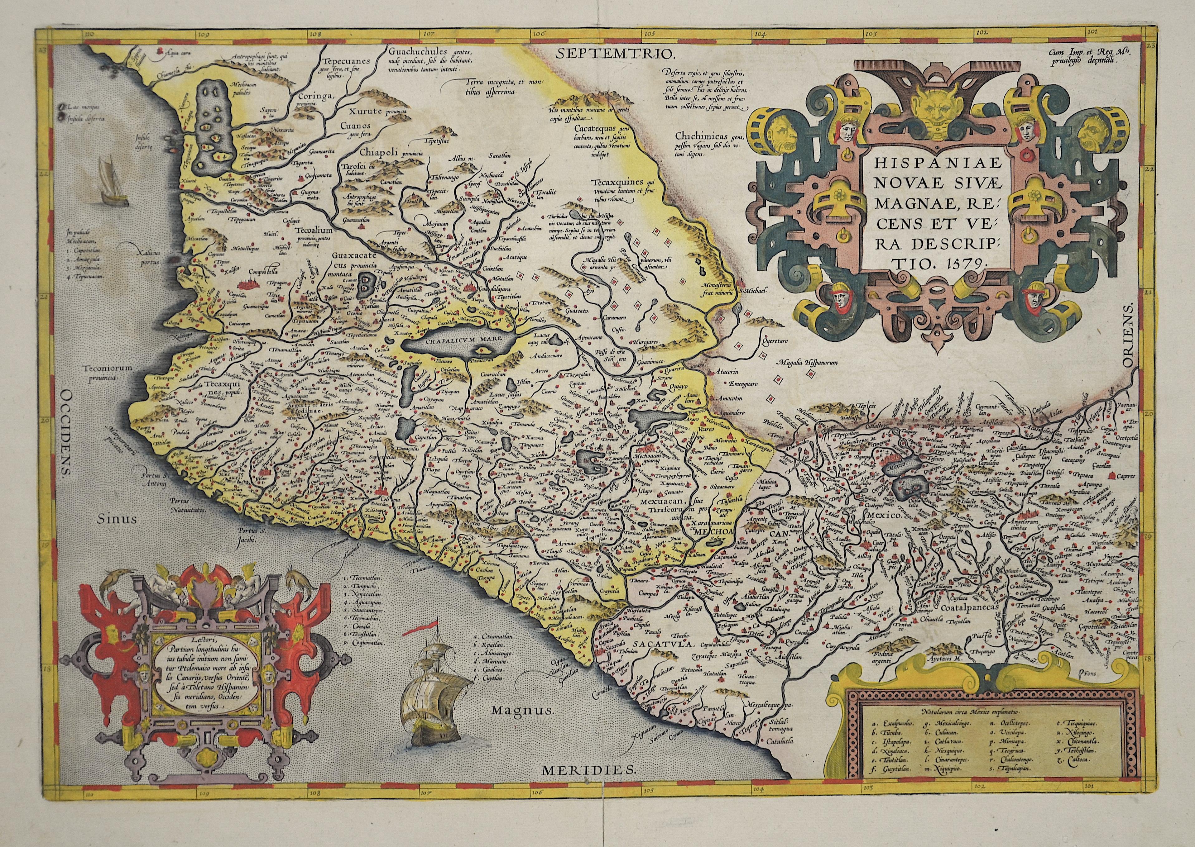 Ortelius Abraham Hispaniae Novae sive Magnae recens descriptio