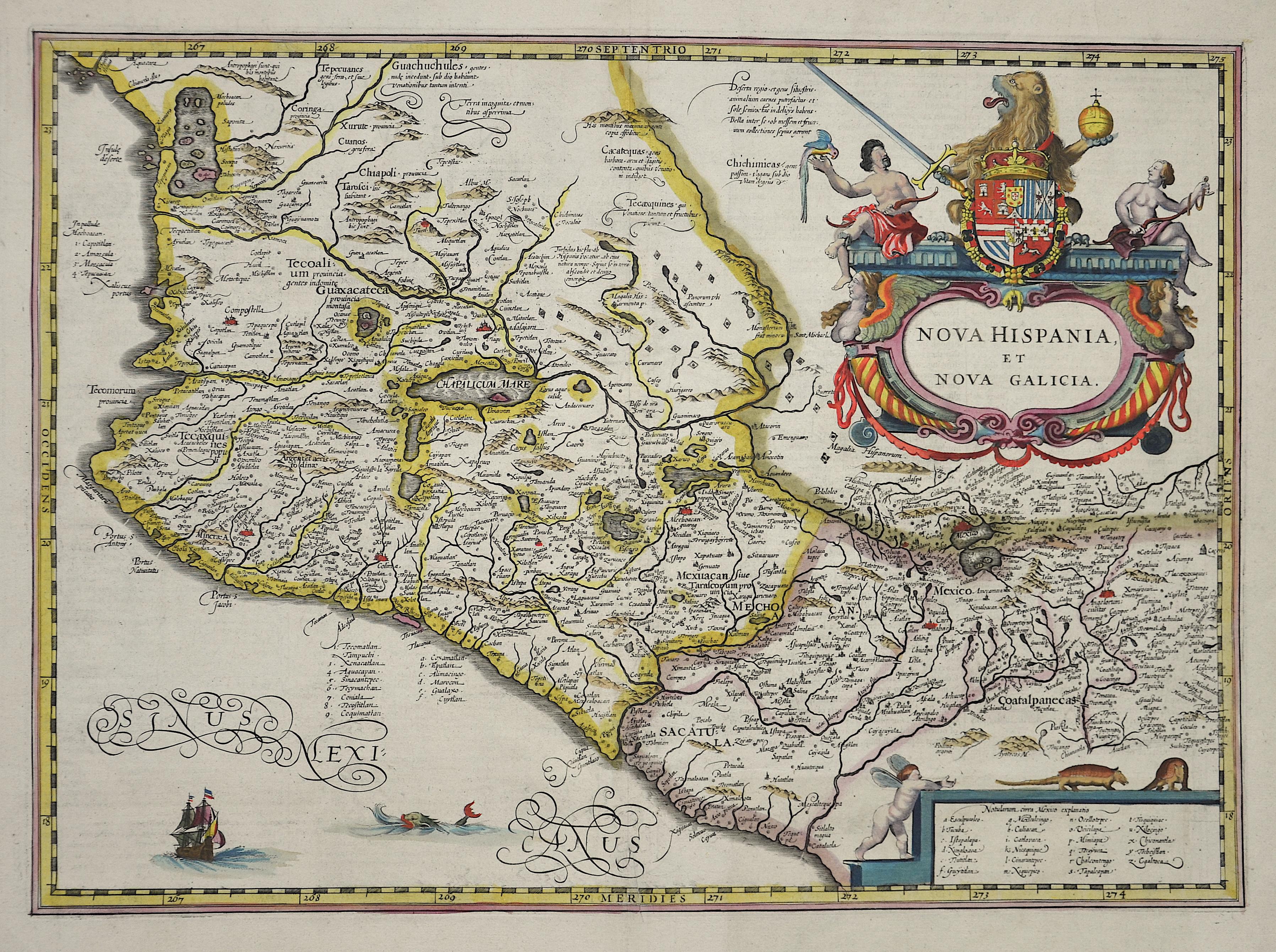 Blaeu  Nova Hispania, et nova Galicia