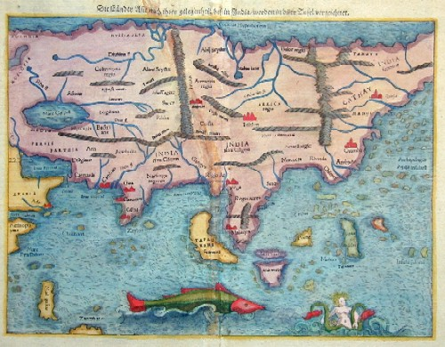 Münster Sebastian Die Länder Asie nach ihrer gelegenheit biß in India/werden in dieser Tafel verzeichnet