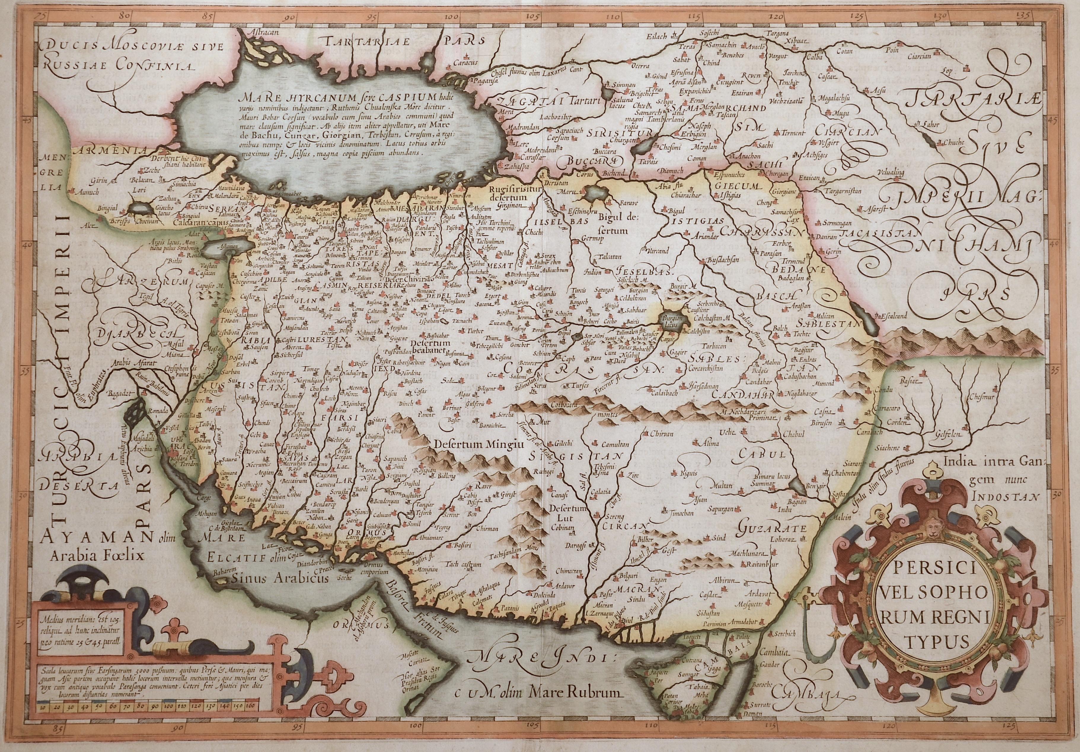 Mercator  Persici vel Sophorum Regni Typus