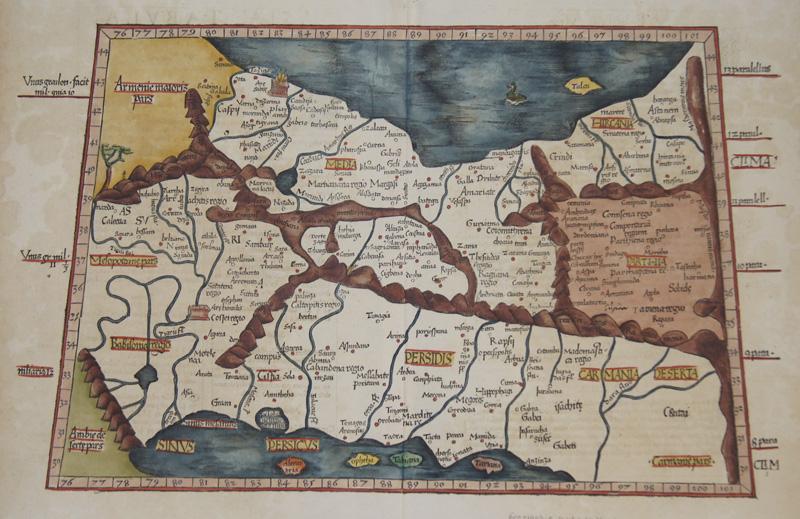 Ptolemy/ Fries Claudius/ Laurent ( Lorenz) Asiae tabula quinta continentur Assyria, Media, Susslanca, Persis, Parthia..