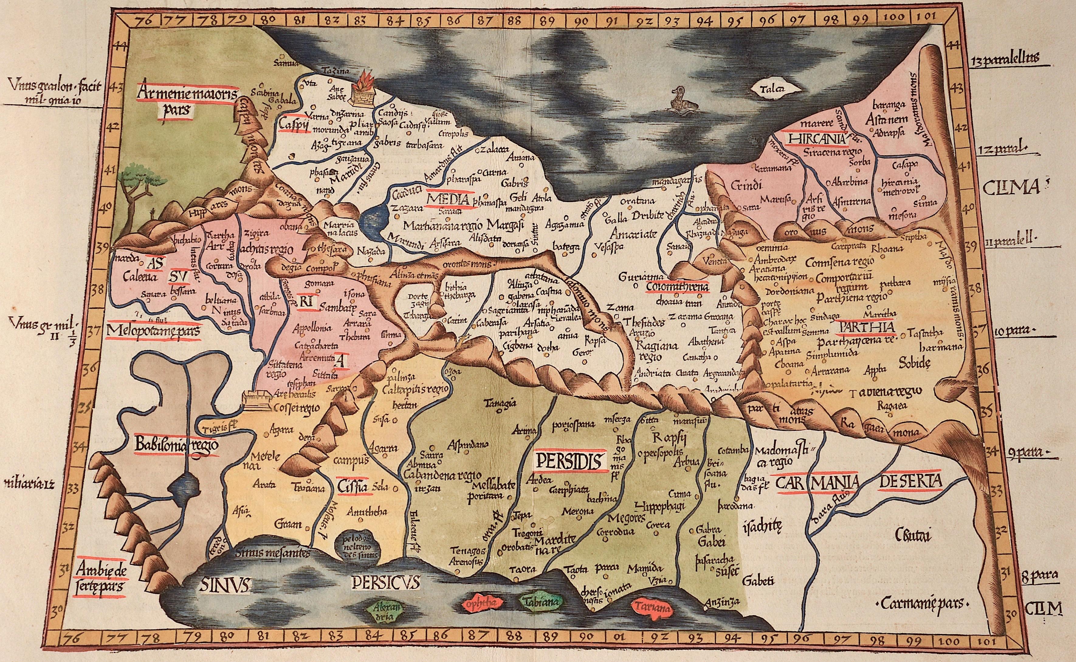Ptolemy/ Fries Claudius/ Laurent ( Lorenz) Asiae Tabula quinta continentur Assyria…