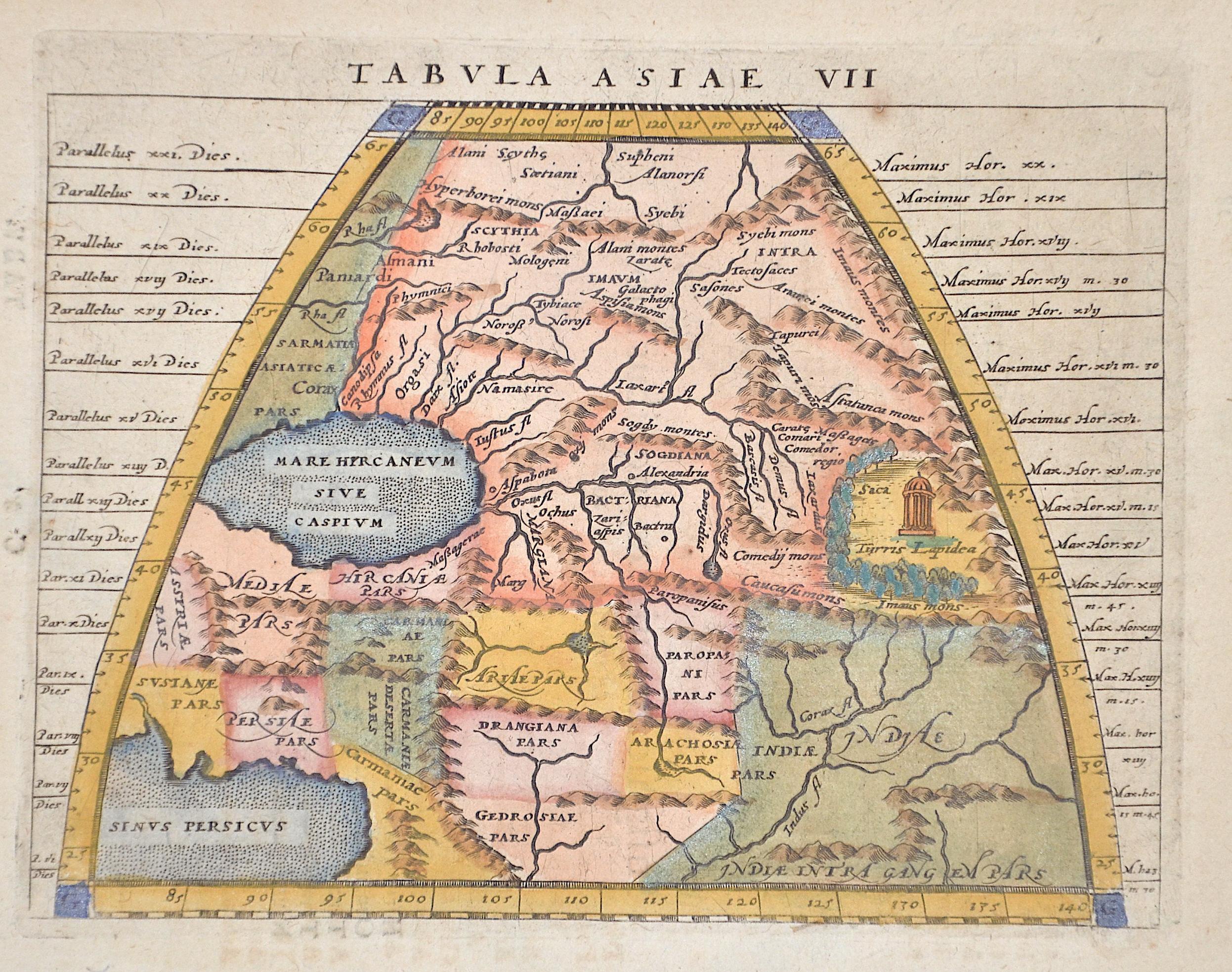 Ruscelli  Tabula Asiae VII