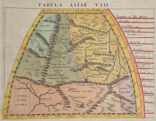Ptolemy/Giovanni Magini Claudius Tabula Asiae VIII