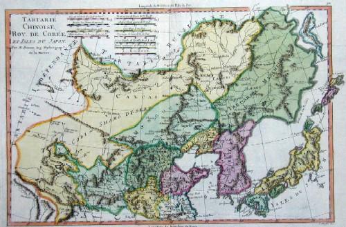 Bonne  Tartarie Chinoise, Roy. de Coree et île du Japon