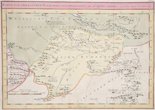Bellin  Karte von der kleinen Bukharey und benachbarten Laendern