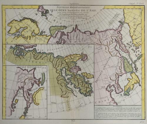 Vaugondy,de  Nouvelle representation des Cotes Nord et 'Est de L´Asie….