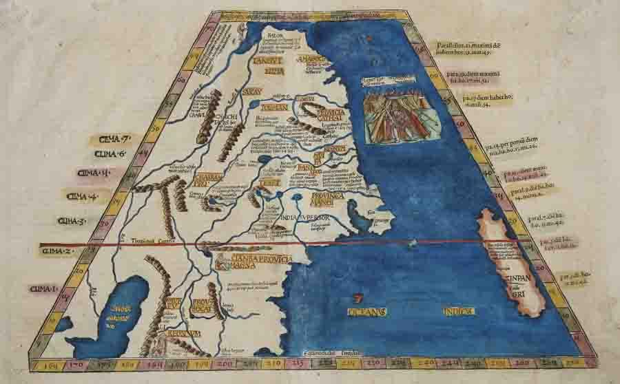 Ptolemy/ Fries Claudius/ Laurent ( Lorenz) Ta superioris Indiae et Tartariae maioris
