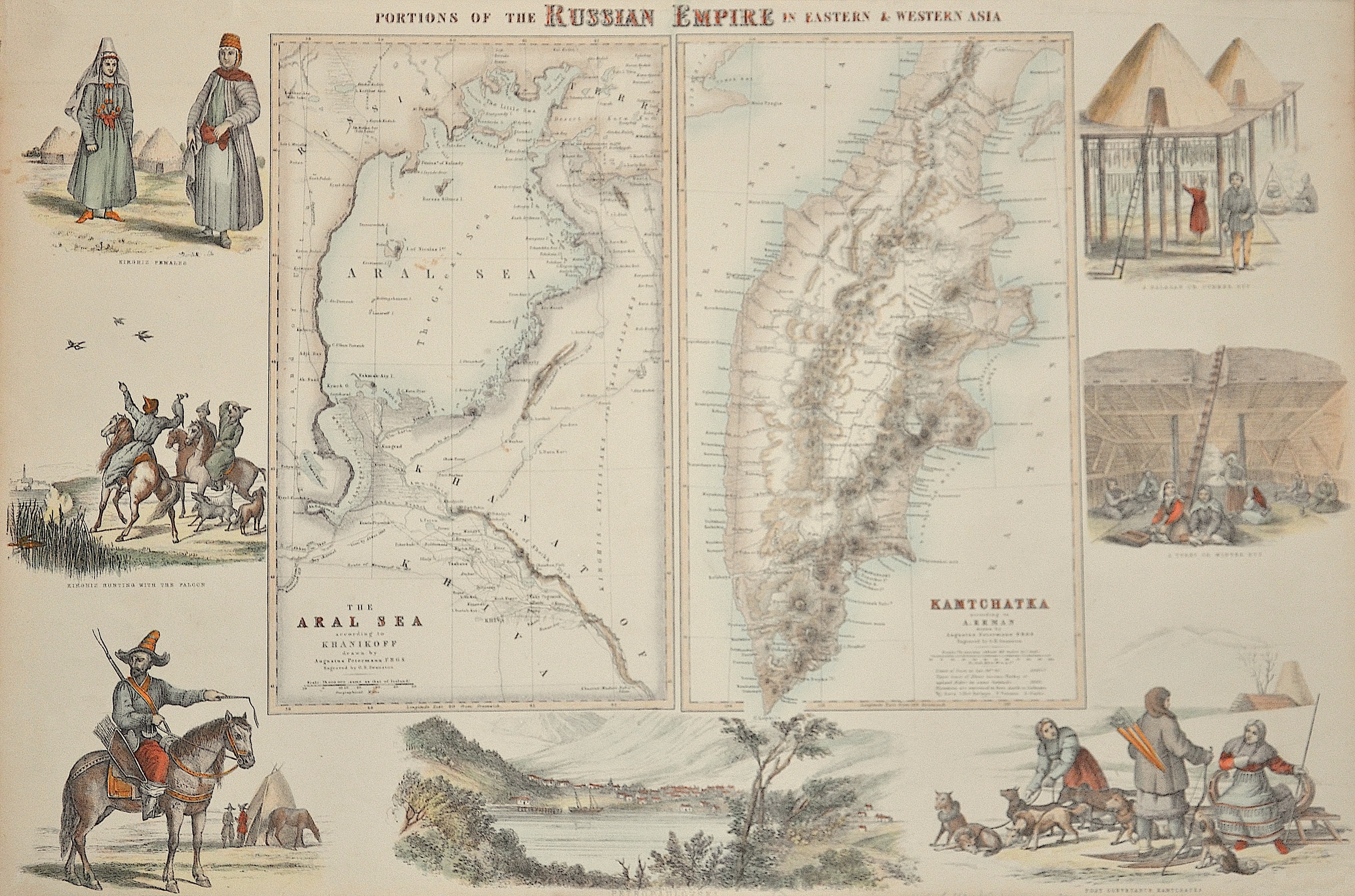 Swanston  Portions of the Russian empire in eastern u. western Asia/ The Aral sea / Kamtchatka
