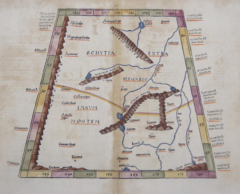 Ptolemy/ Fries  Tabula VIII Asiae ( reverse)
