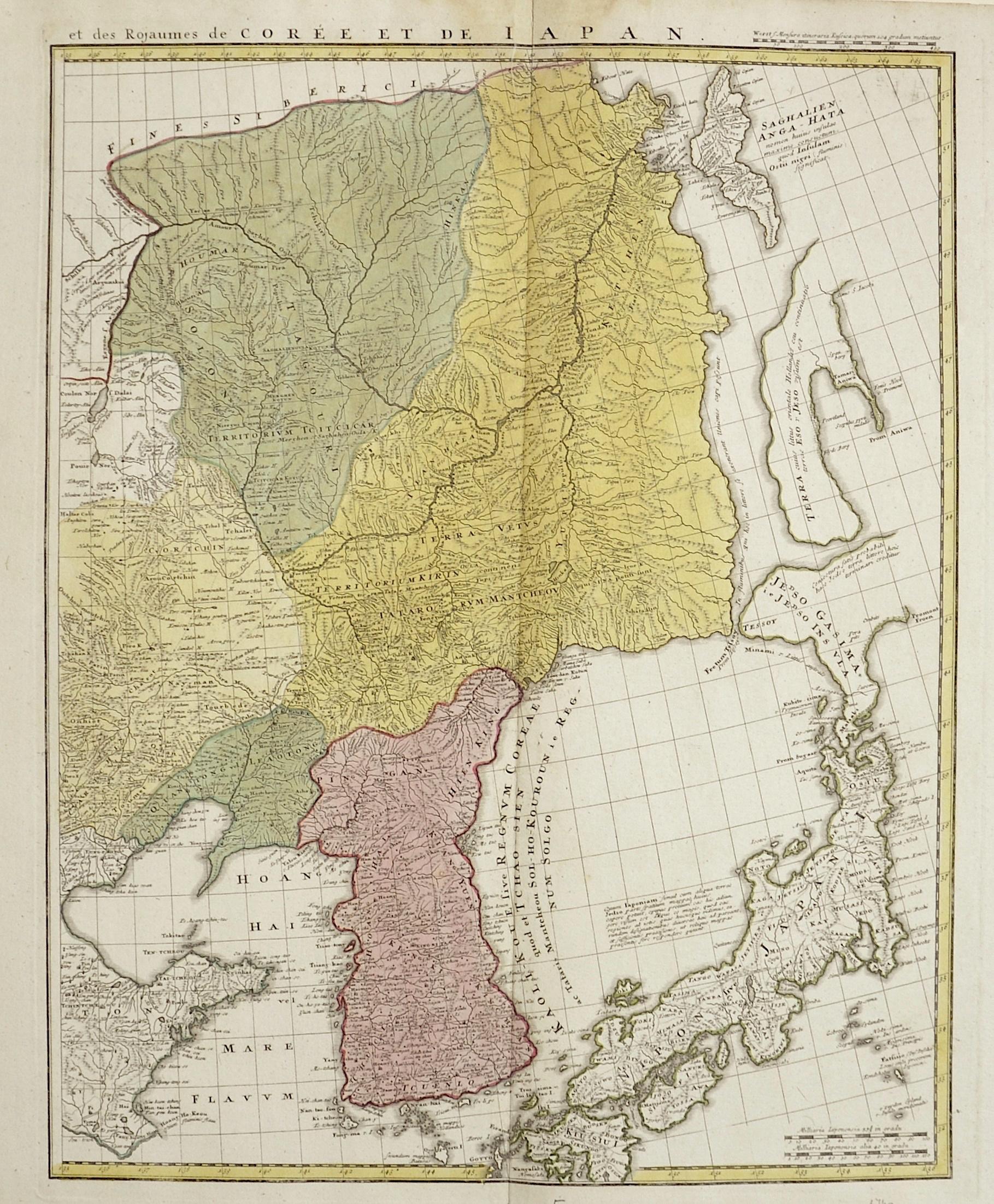 Homann Erben  et des Rojaumes de Corée et de Japan