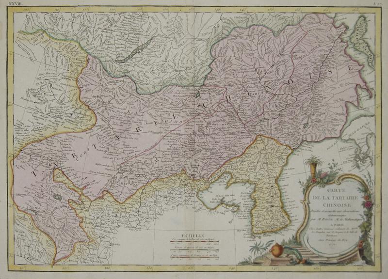 Bonne  Carte de la Tartarie Chinoise.