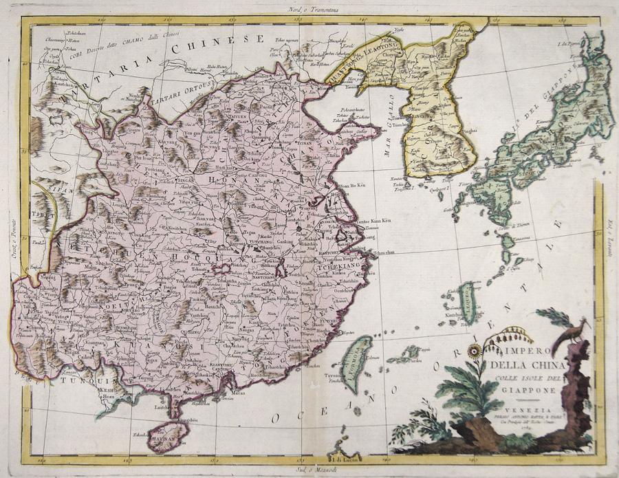 Zatta  Impero della china colle Isole del Giappone