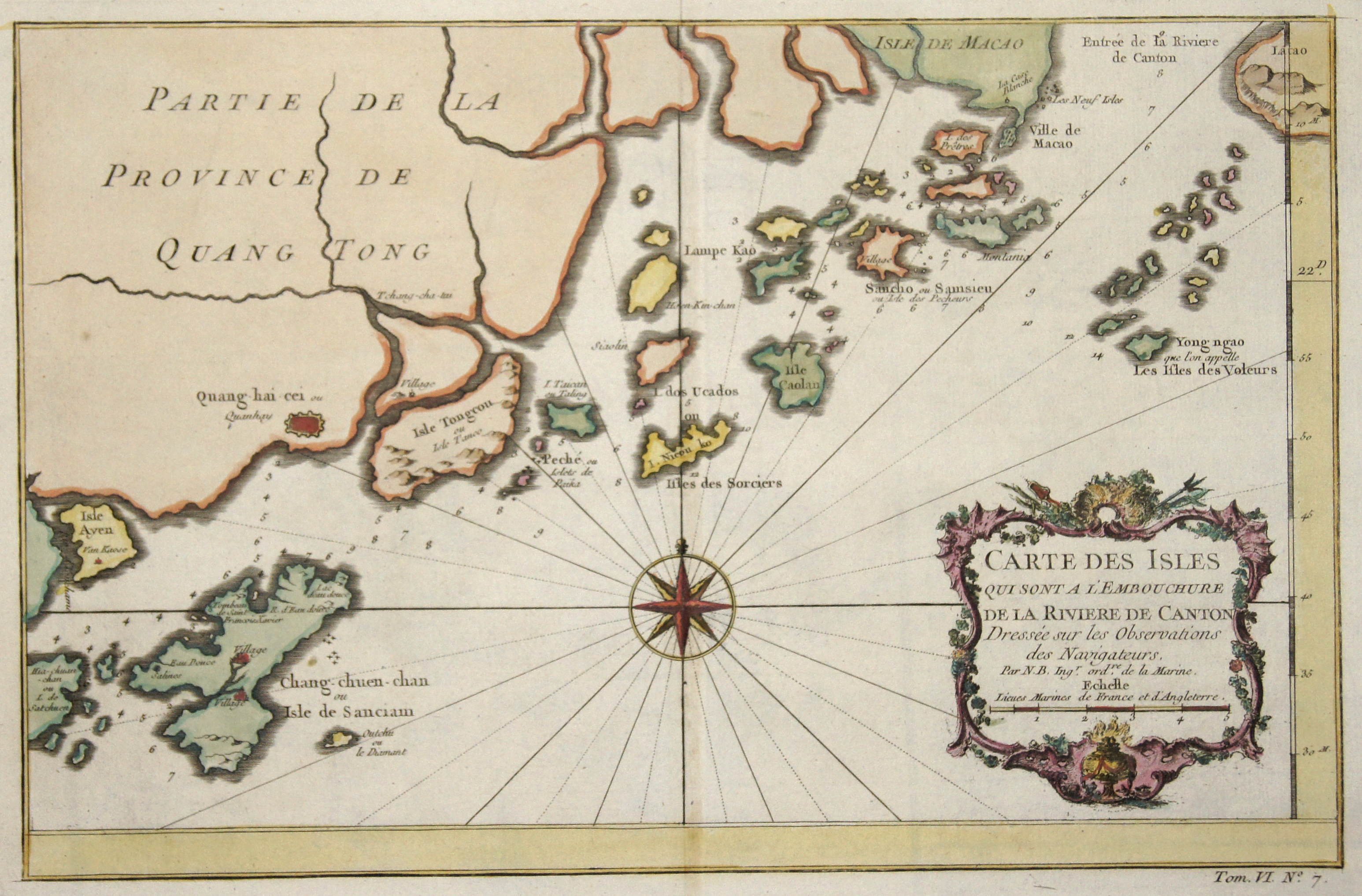 Bellin Jacques Nicolas Carte des Isles qui sont a l'Embouchure de la Riviere de Canton…