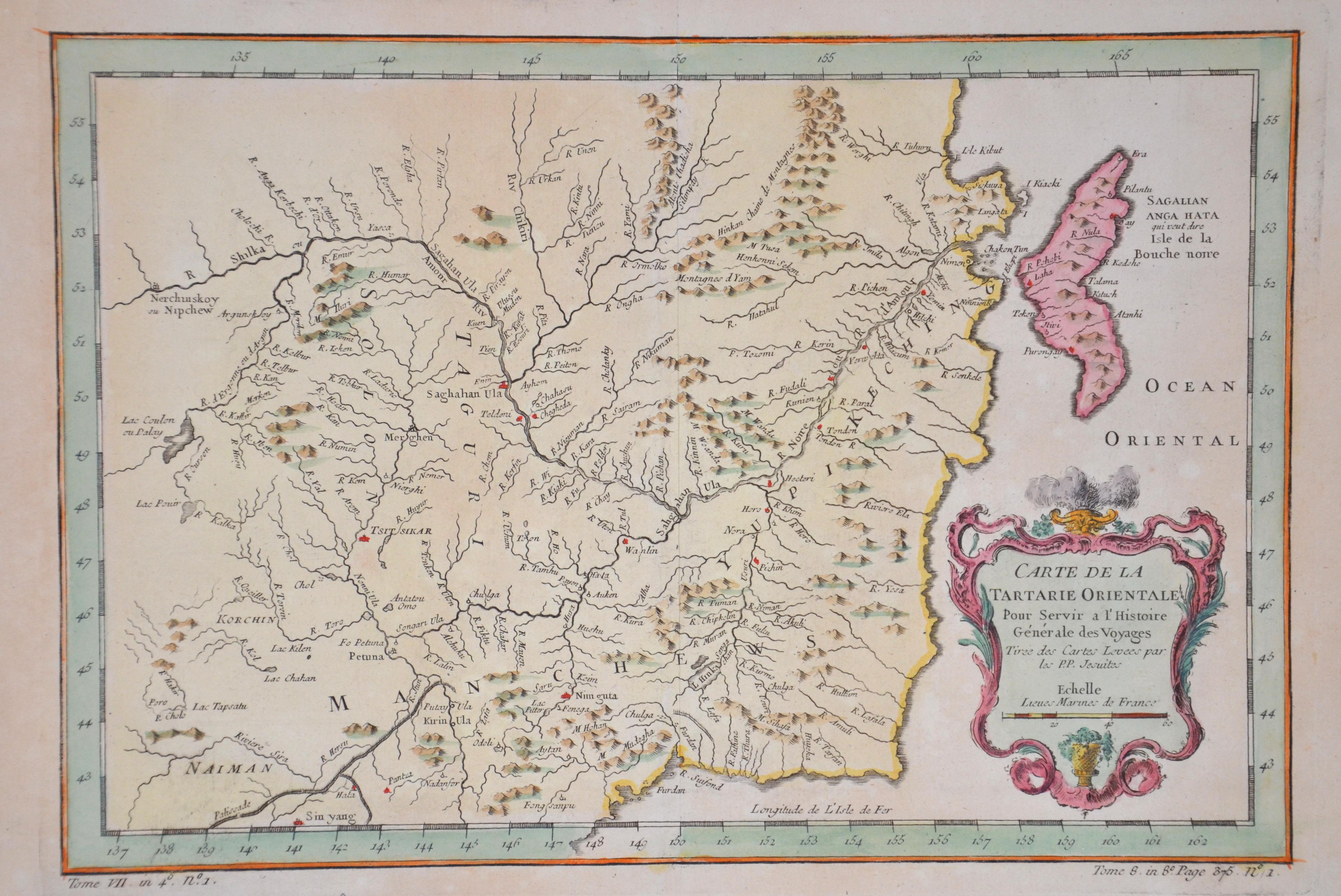 Bellin  Carte de la Tartarie Orientale