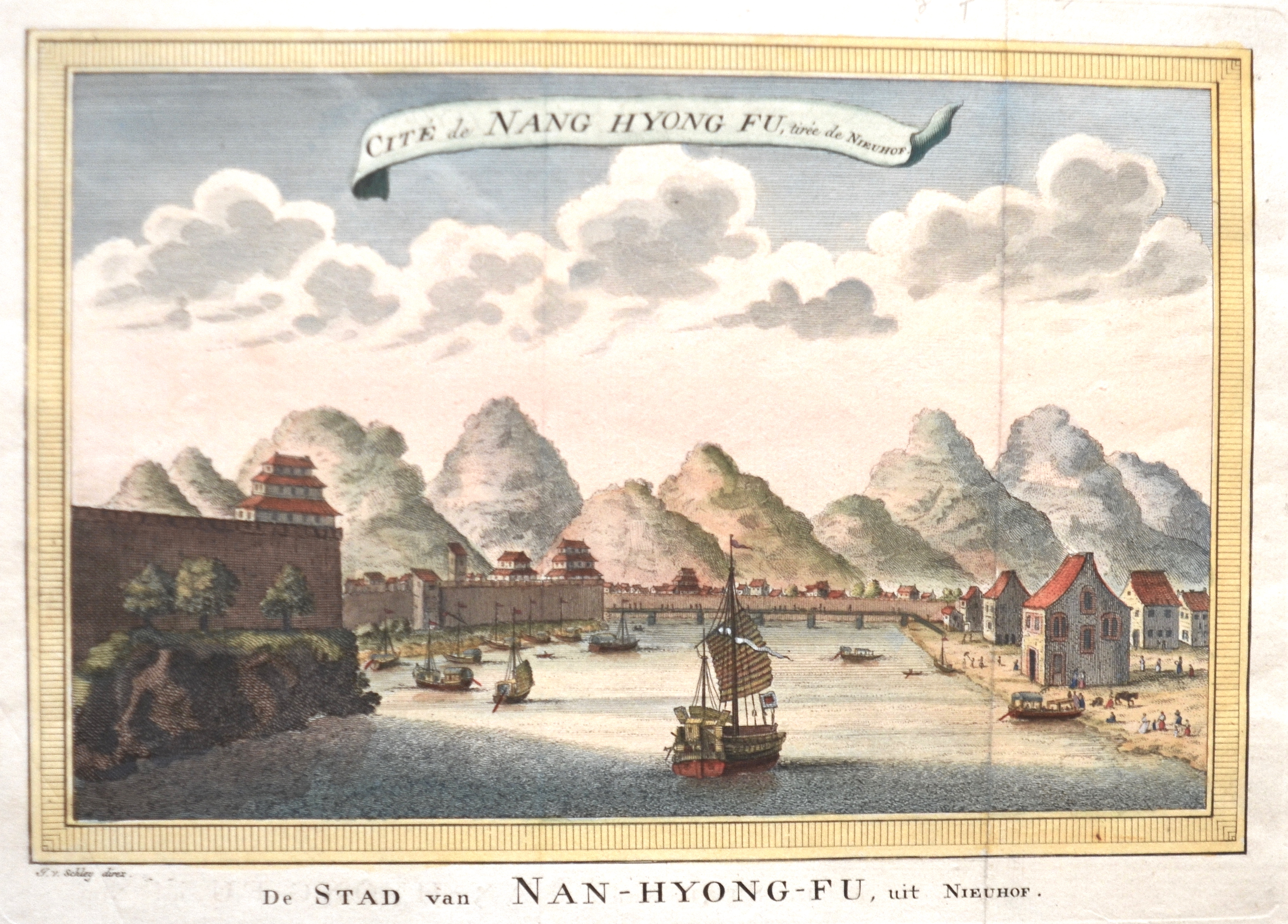 Schley, van der Jacob Cité de Nang Hyong Fu, tirée de Nieuhof.