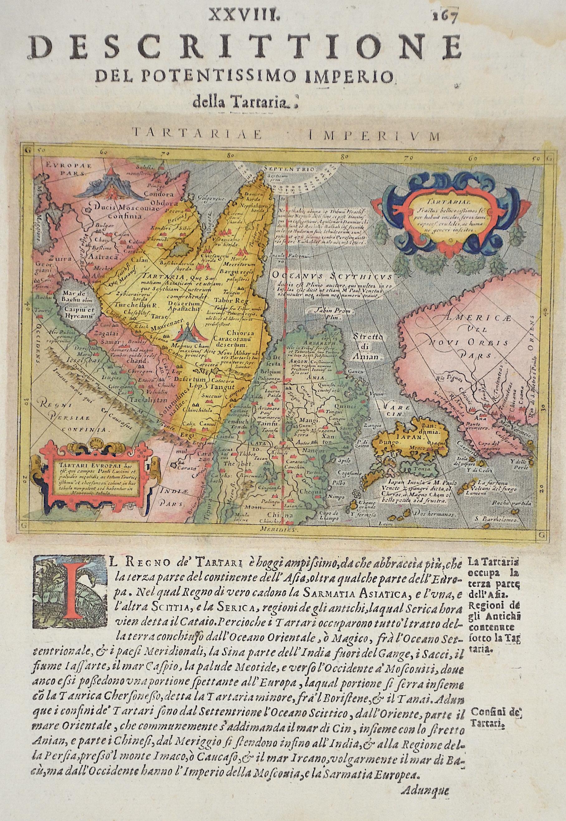 Porro Girolamo XXVIII. Descrittione del Potentissimo Imperio della Tartaria.