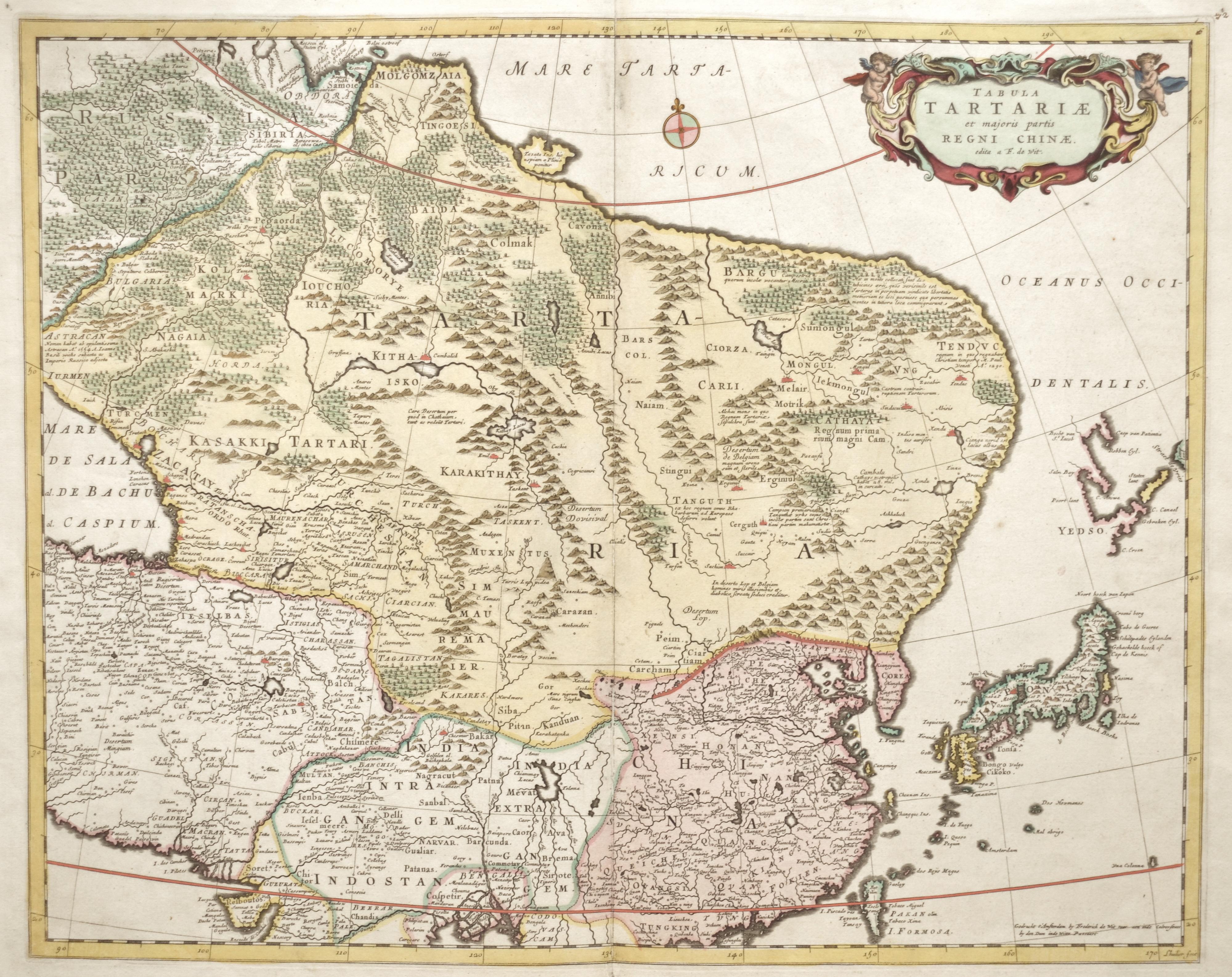 Wit, de Frederick Tabula Tartariae et majoris partis Regni Chinae.