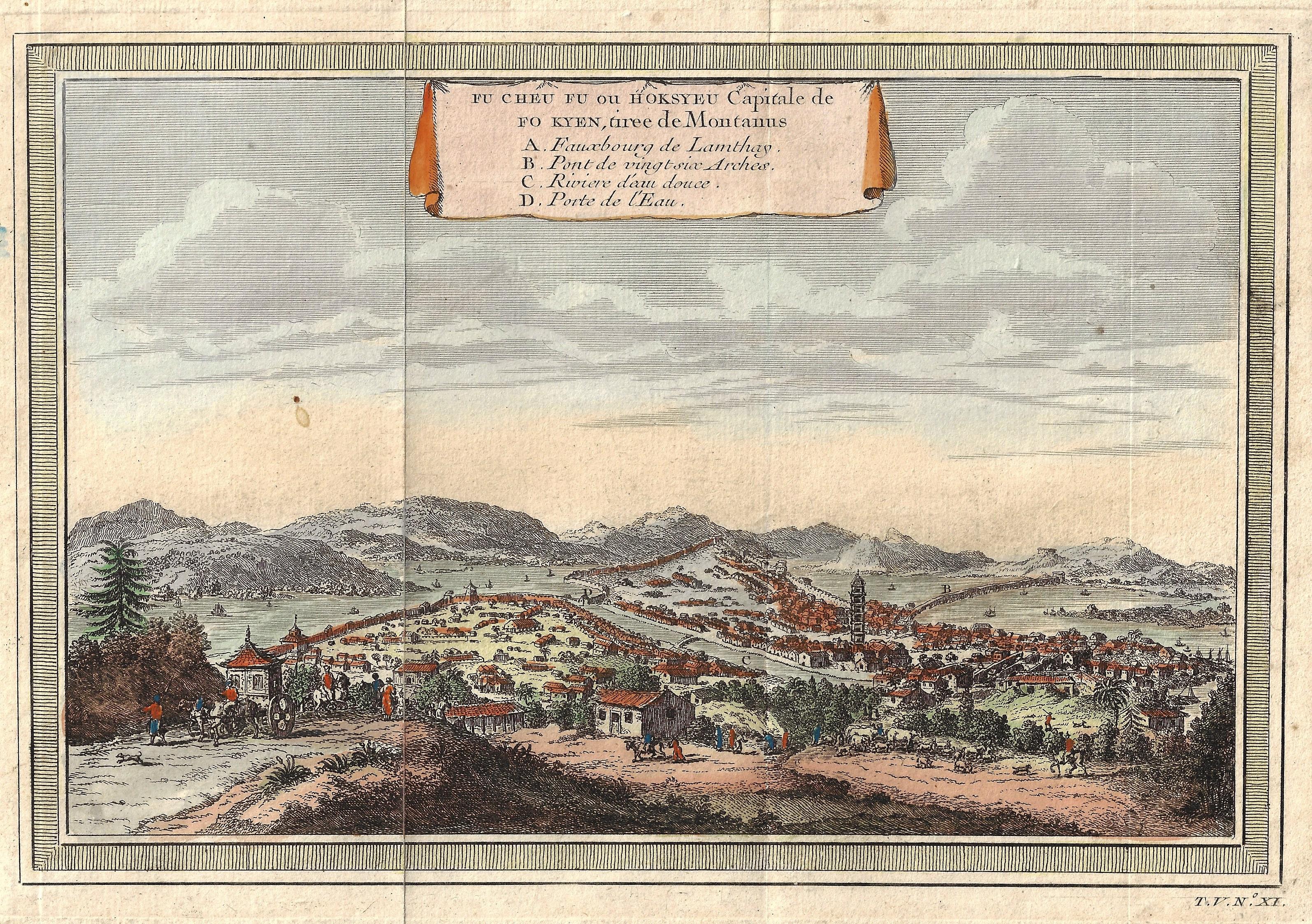 Bellin Jacques Nicolas Fu cheu fu ou Hoksyeu Capitale de fo Kyen, tiree de Montanus