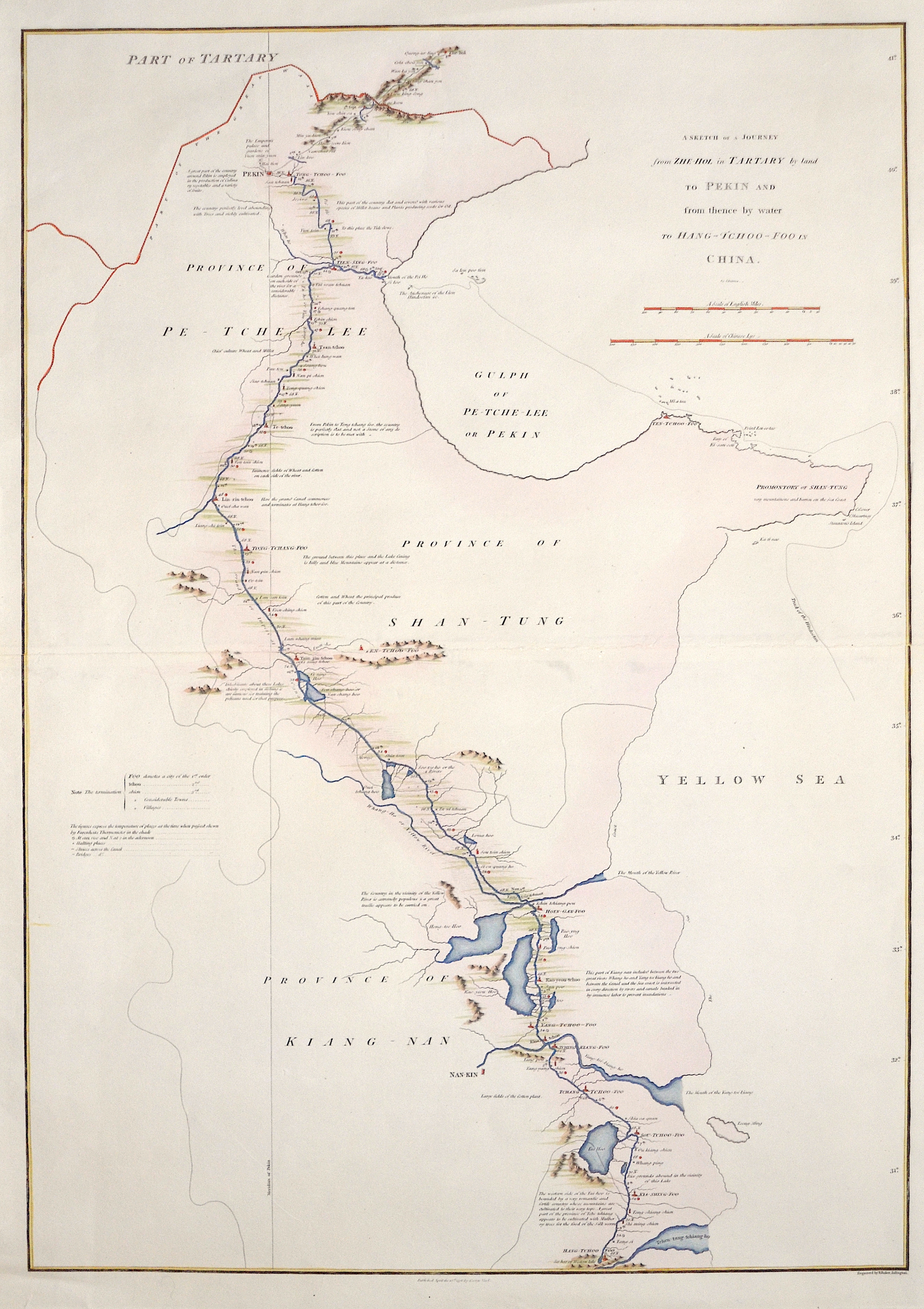 Straunton  A Sketch of a Journey from Zhe-Hol in Tartary by land to Pekin and from thence by water to Hang-Tchoo-Foo in China.