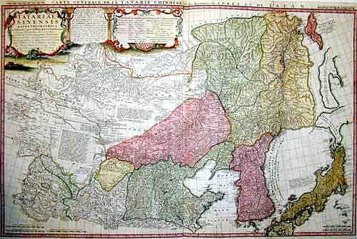 Homann Erben  Tartariae Sinensis Mappa Geographica