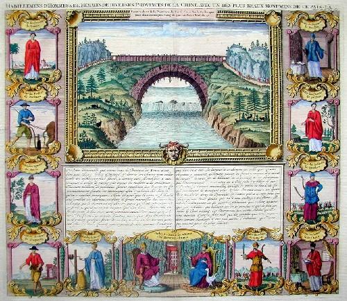 Chatelain Henri Abraham Habillemens d´hommes et des femmes des diveres provinces de la Chine..