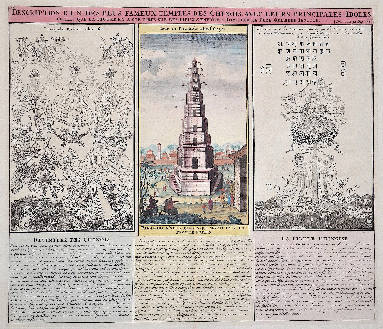 Chatelain Henri Abraham Description d´un des plus fameux temples des chinoise, avec leurs principales idoles