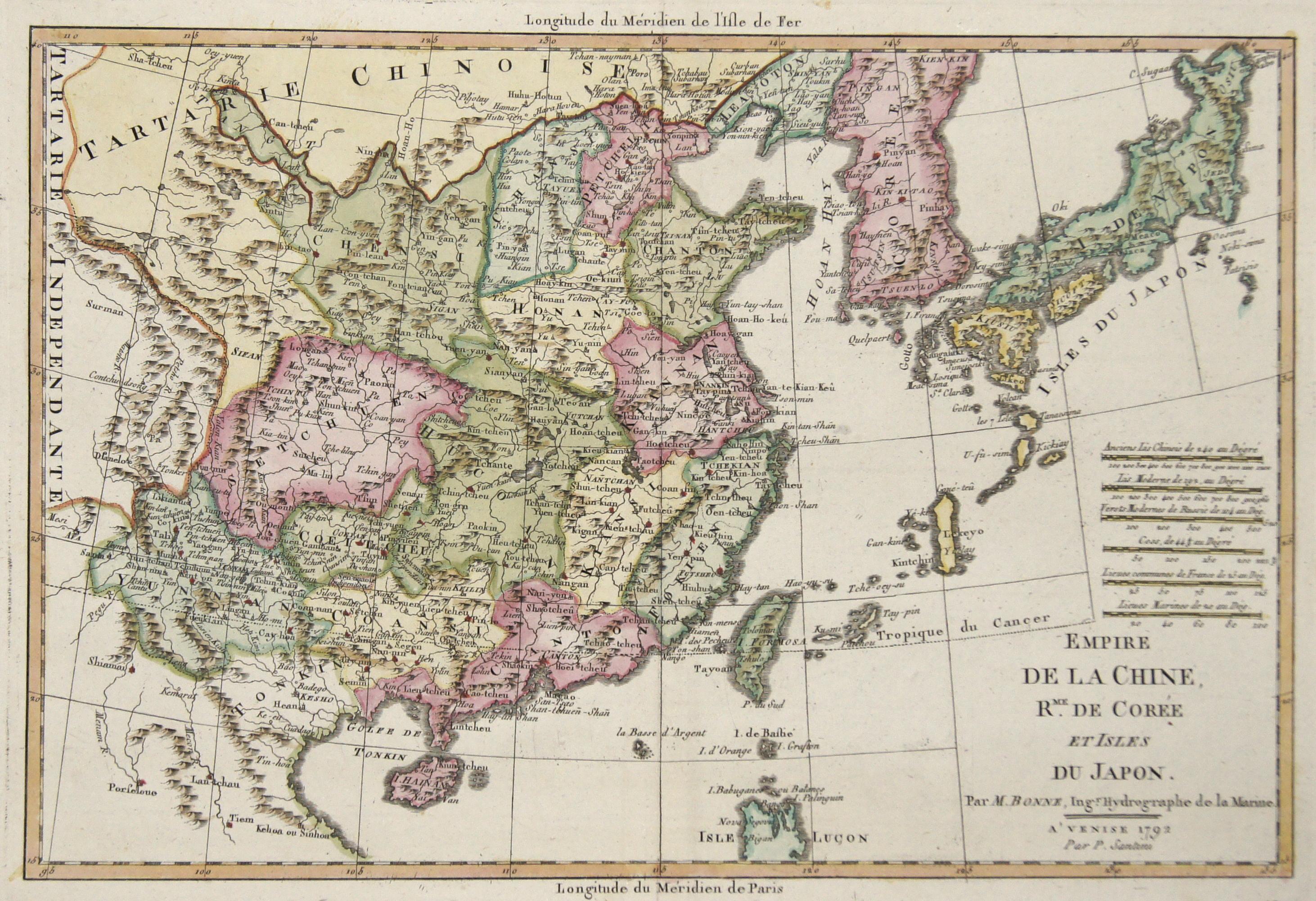 Bonne  Empire de la Chine, erm.de Corée et Isles du Japon