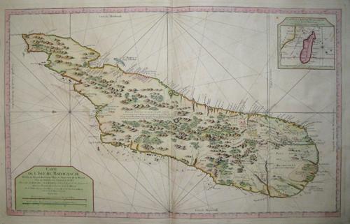 Bellin  Carte de  l´ Isle de Madagascar……