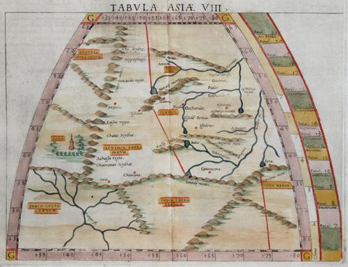 Ruscelli Girolamo Tabula Asiae VIII