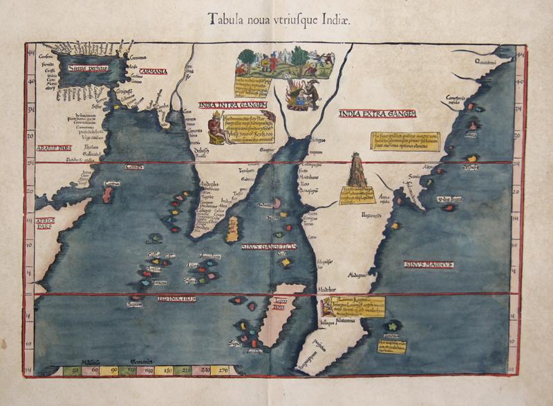 Ptolemy/ Fries Claudius/ Laurent ( Lorenz) Tabula nova utriusque Indiae