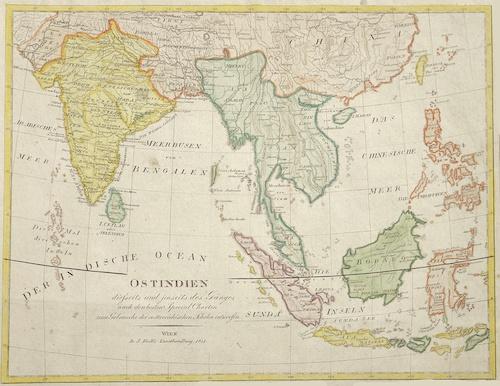 Riedl  Ostindien dieseits und jenseits des Ganges nach den besten Special Charten zum Gebrauche der oesterreichischen Schulen entworfen